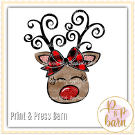 Reindeer Plaid- Black Antler