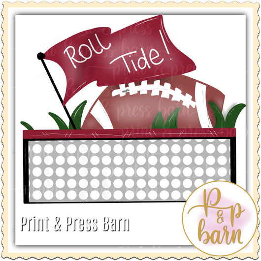 Roll Tide Football FLag
