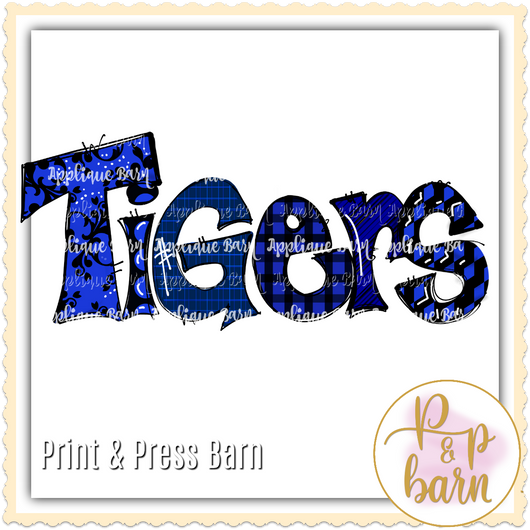 Tigers- Blue and Black