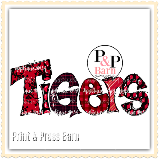 Tigers- Red and Black