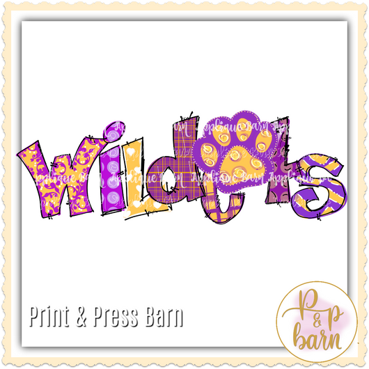 Wildcats- Purple yellow