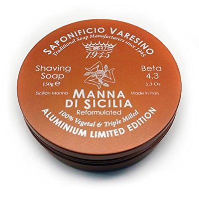 Shaving Soap Manna Latta (Manna shaving soap in aluminium jar) - Saponificio Varesino