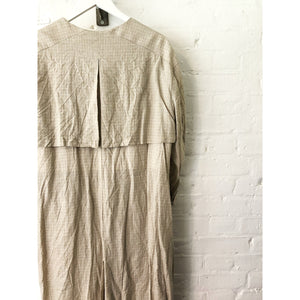 Vintage Irish Linen Wide Trench Coat