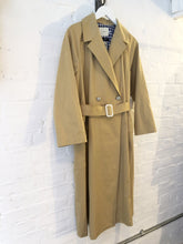 Twill Wide Long Trench Coat