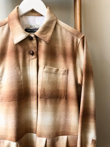 Wool Check Dress Coat