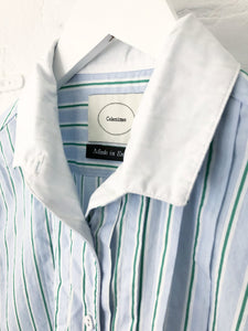 Men's Shirting Fabric White Collared Shirt