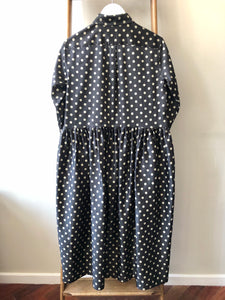 Dots Hand Tuck Pleats Dress