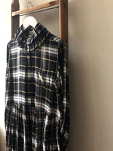 Tartan Check Detachable Ruffle Collar Dress