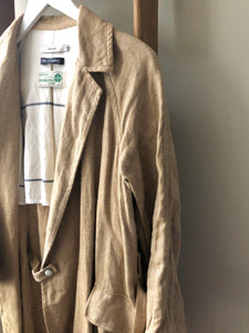 Irish Linen Wrap Coat