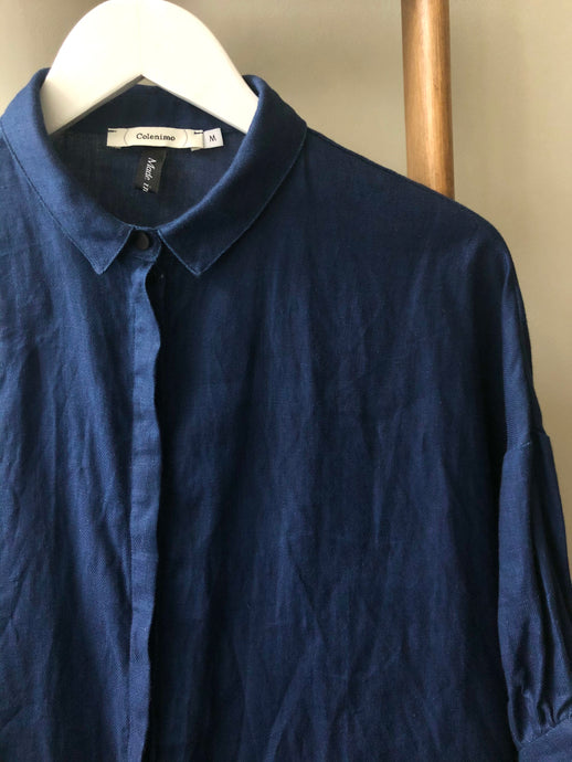 Japanese Indigo Linen Top