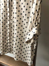 Cotton Satin Balloon sleeve Polka Dots Top
