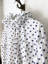 Cut Jacquard Dots Cotton Dress