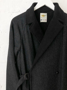 Wrap coat , reversible coat