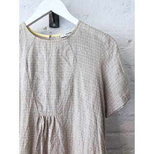 Vintage Irish Linen Bib Dress
