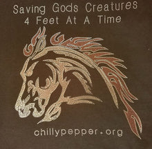 Chilly Pepper - Metallic logo - Saving God's Creatures 4 feet at a time