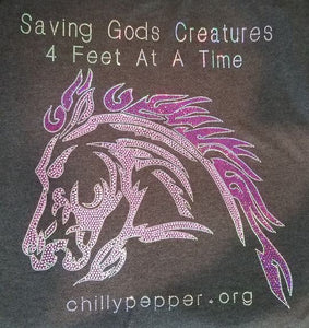 Chilly Pepper - Holographic logo - Saving God's Creatures 4 feet at a time