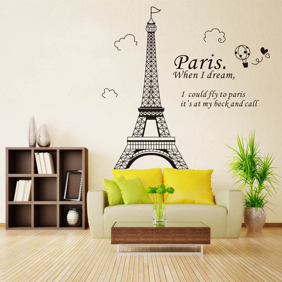 Scenic Eiffel Tower Wall Decor [LET YOUR INNER TRAVEL BUG SHOW]