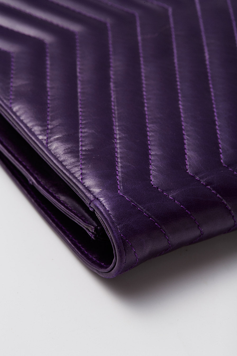 Maud Frizon<br>1980's calfskin quilted envelope clutch with crossbody strap