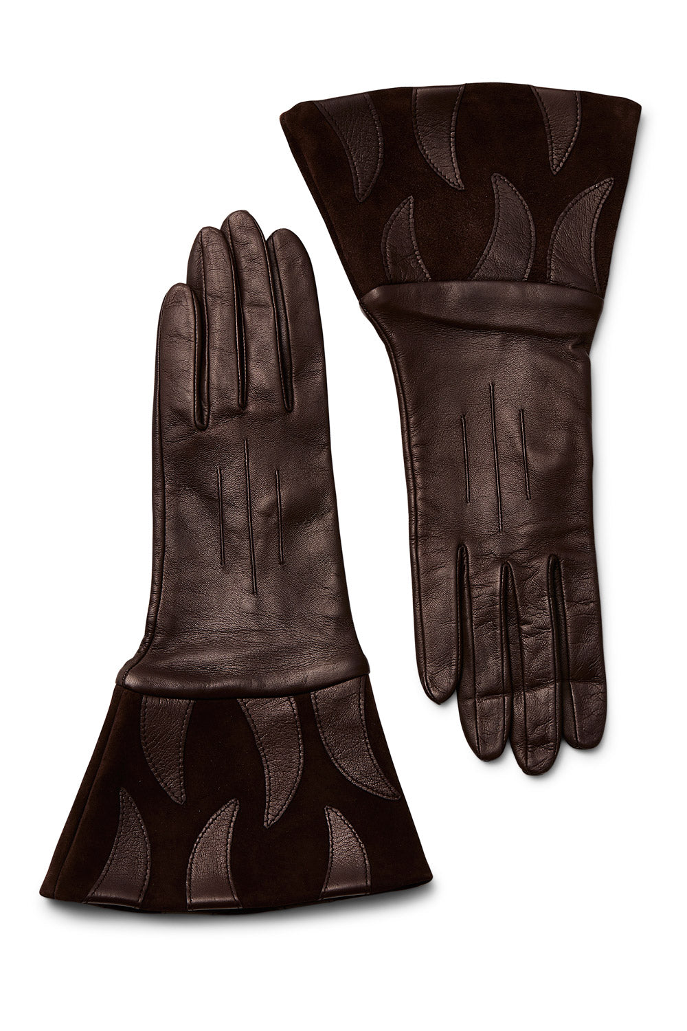 Vintage<br>1970's/80's brown leather and suede gloves