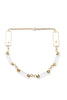Vintage<br>1960's/70's lucite, metal & crystal geometric choker necklace