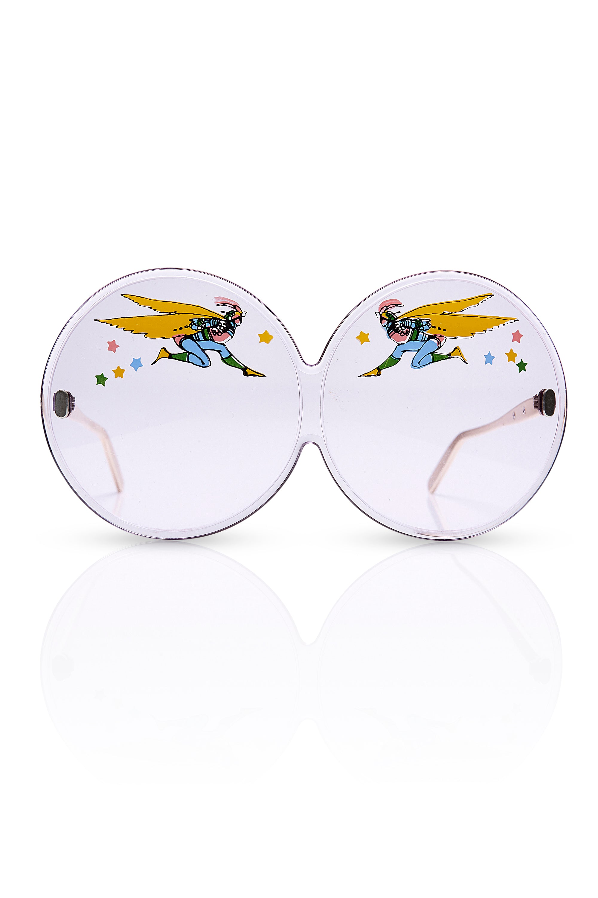 Peter Max<br>1960's super rare wearable art graphic lense sunglasses