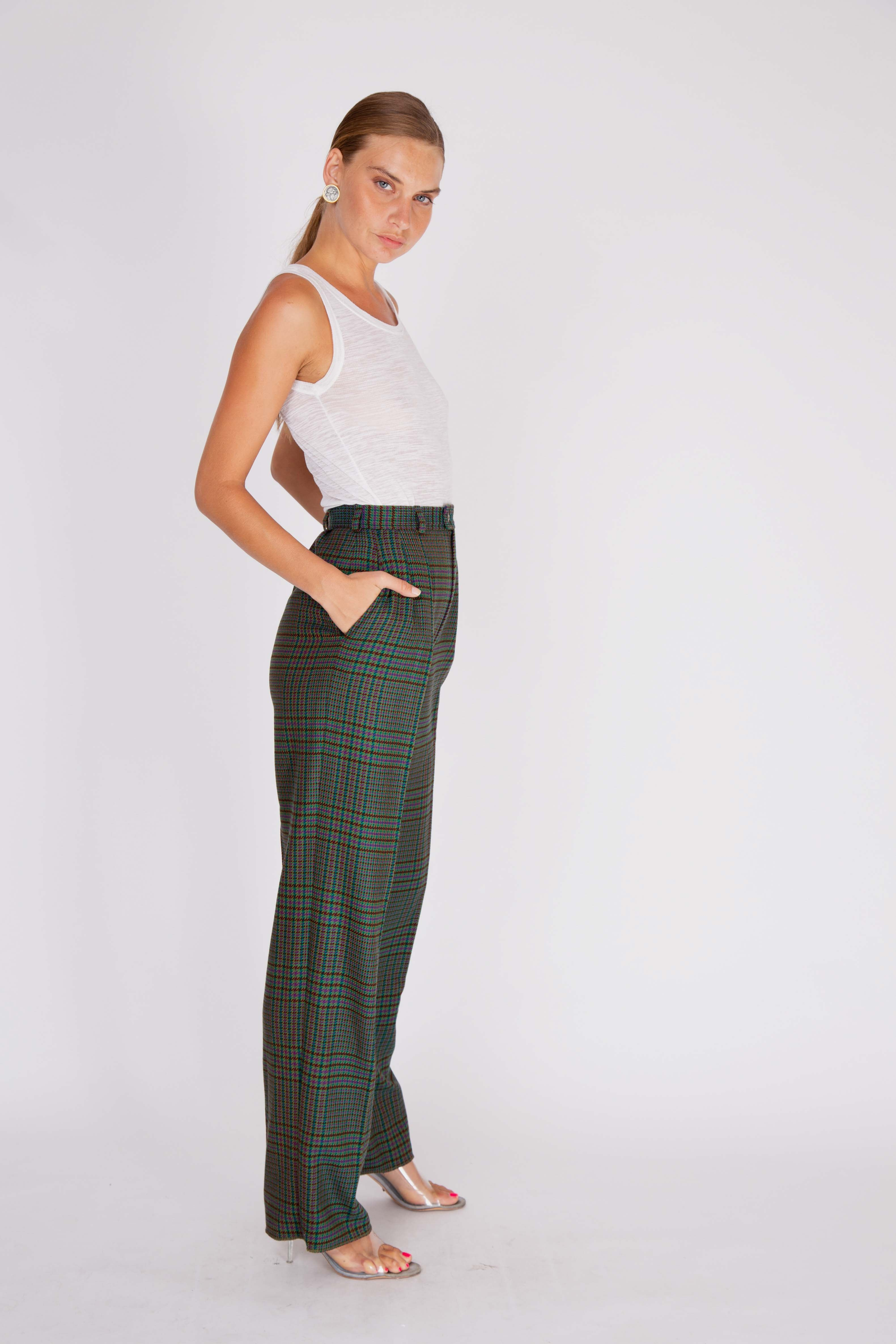 Yves Saint Laurent<br>1970's tweed trousers