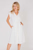 Yves Saint Laurent<br>1980's white linen sailor dress