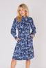 Yves Saint Laurent<br>1980's botanical print silk lavalier dress