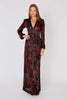 Yves Saint Laurent<br>1970's snake print maxi dress