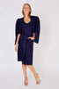 Yves Saint Laurent<br>navy 1970's linen dress & jacket ensemble