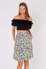Yves Saint Laurent<br>1980's floral crepe skirt