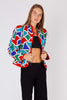 Yves Saint Laurent<br> 1980's geometric print bolero jacket