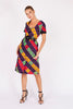 Lanvin<br>70's waffleweave cotton geometric print day dress