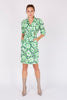 Thierry Mugler<br>80's floral wrap dress with cut-out waist