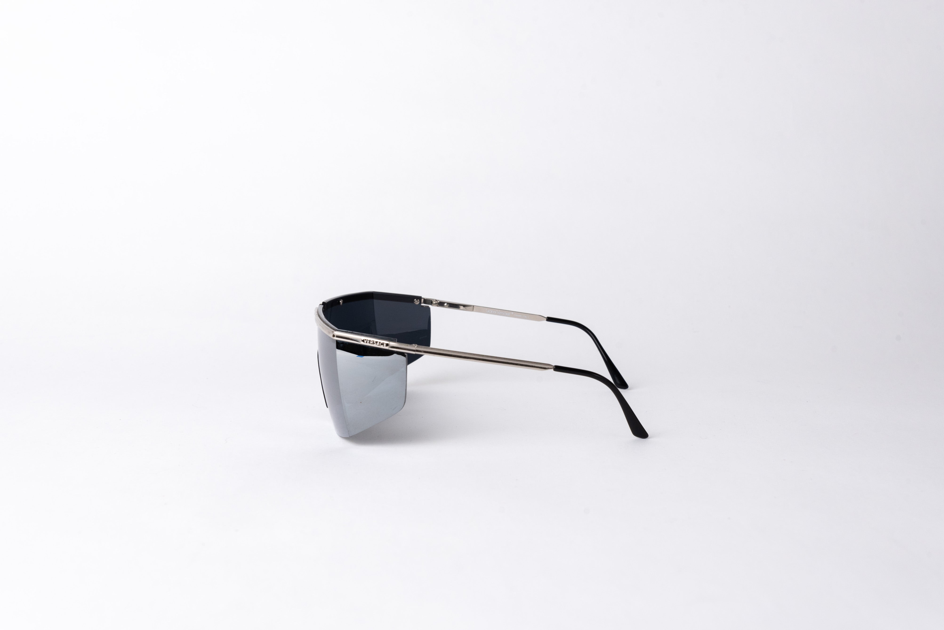 Gianni Versace <br> 1980's mirrored wrap shield sunglasses