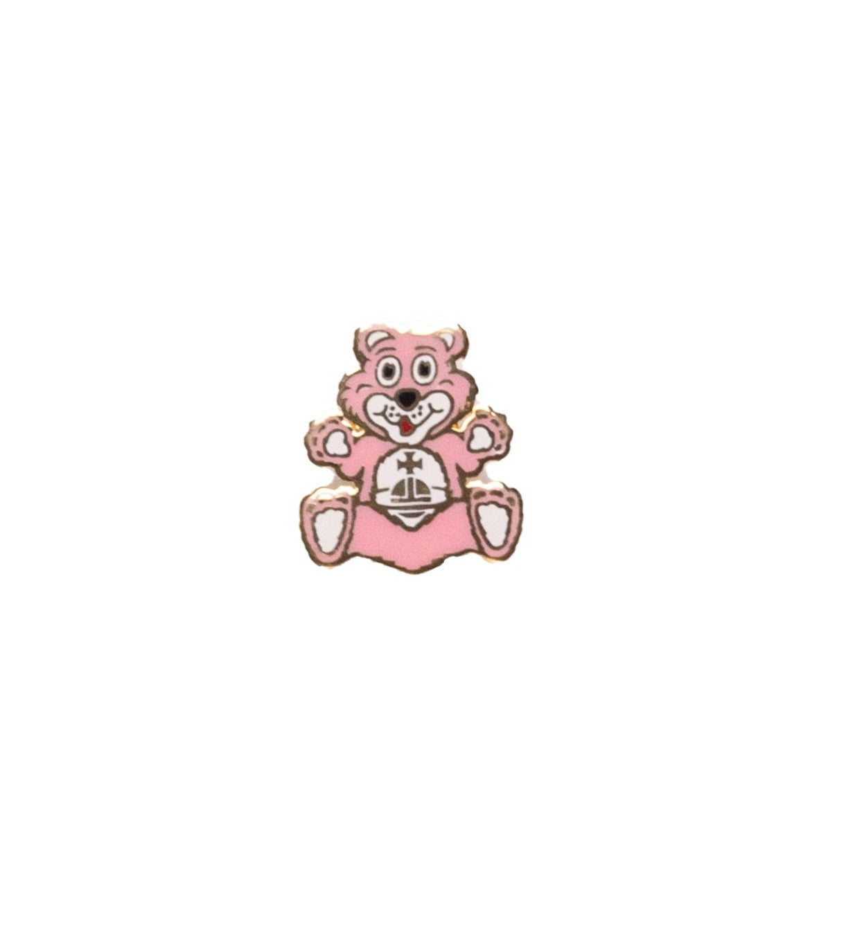 Vivienne Westwood <br> Enamel teddy bear orb logo pin badge