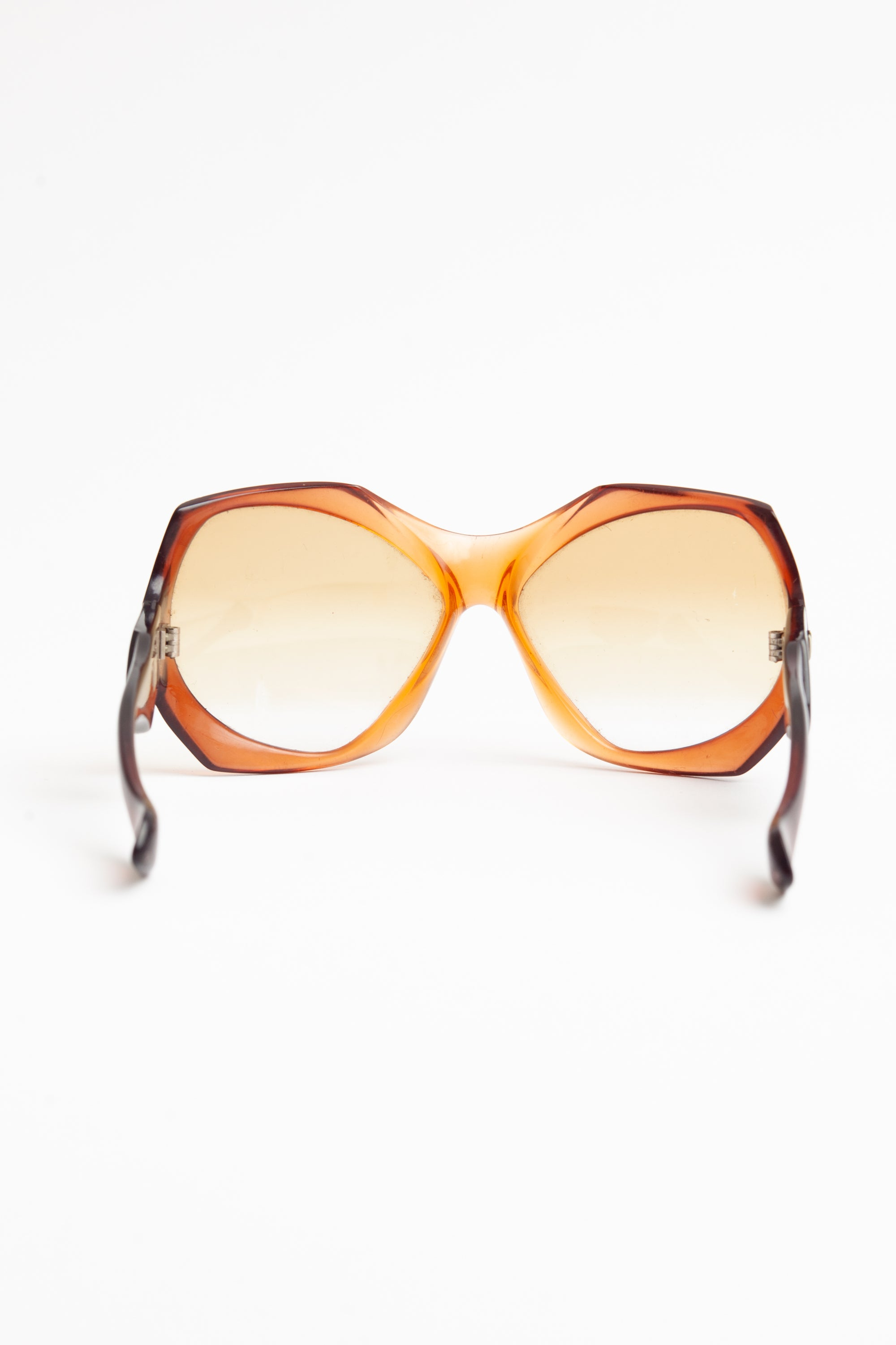Yves Saint Laurent <br> c1975 orange oversized frame sunglasses