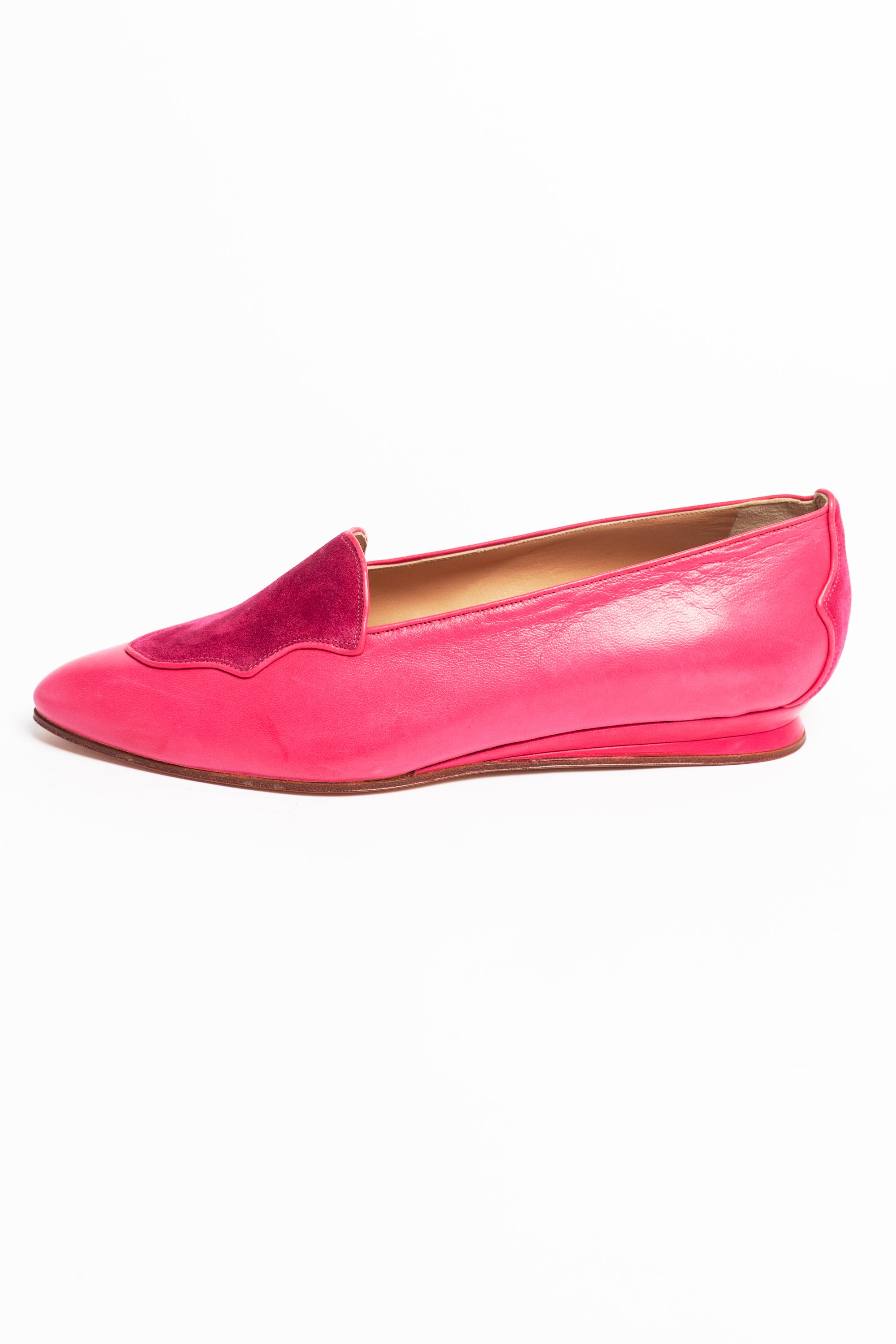 Maud Frizon <br> 1980's leather & suede pointed toe loafers