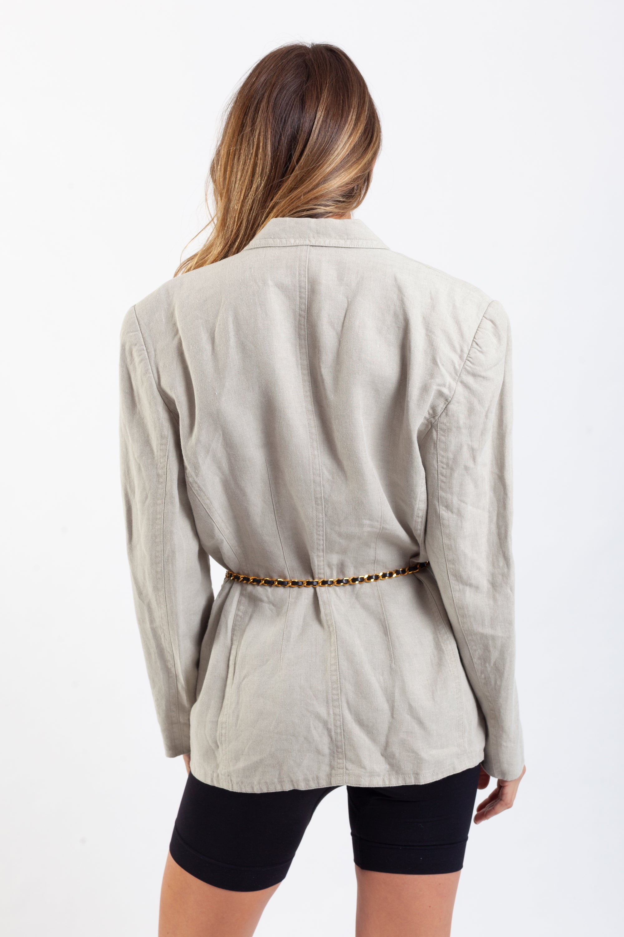 Escada <br> 80's softly tailored linen blazer