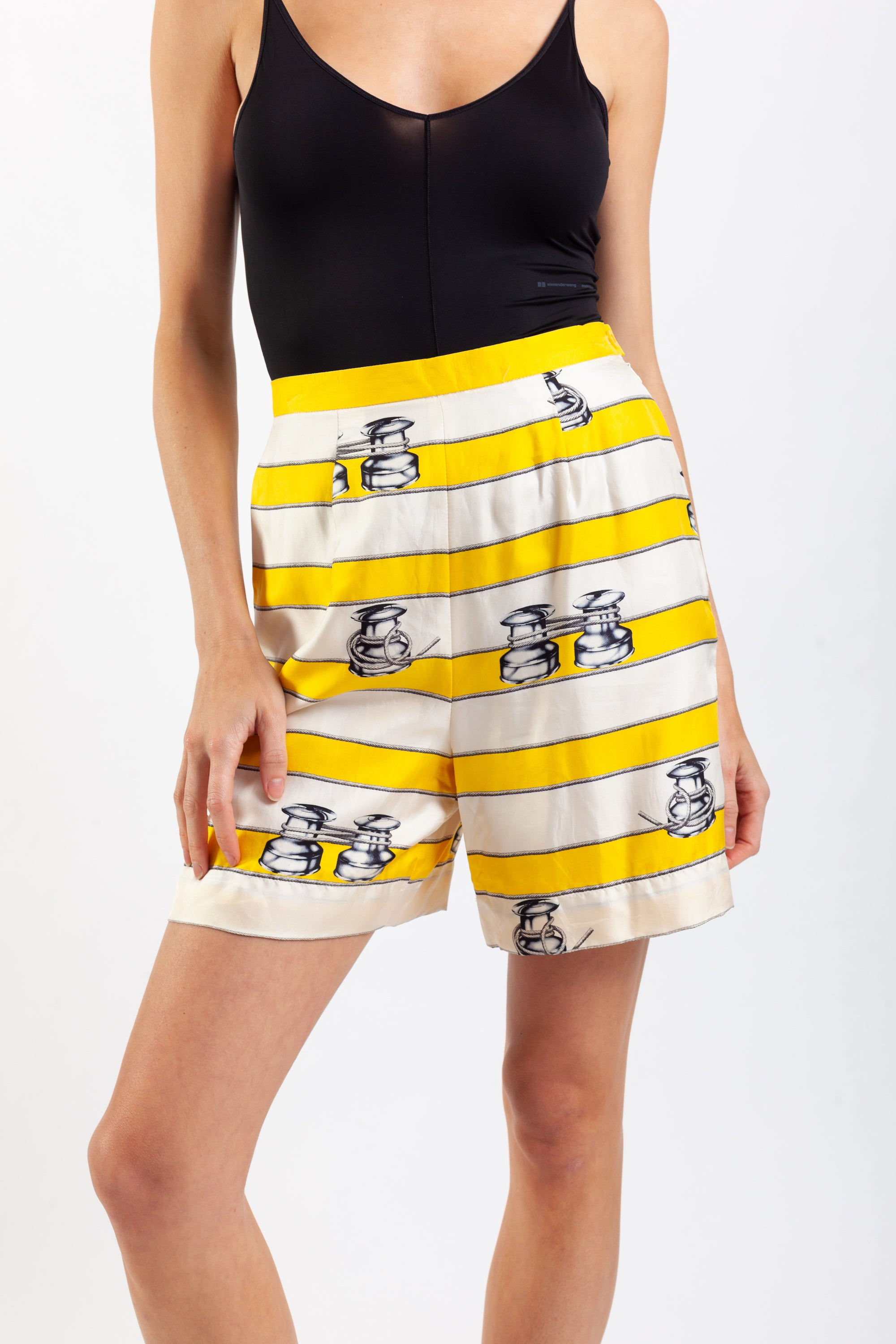 Escada <br> 80's printed silk bermuda shorts
