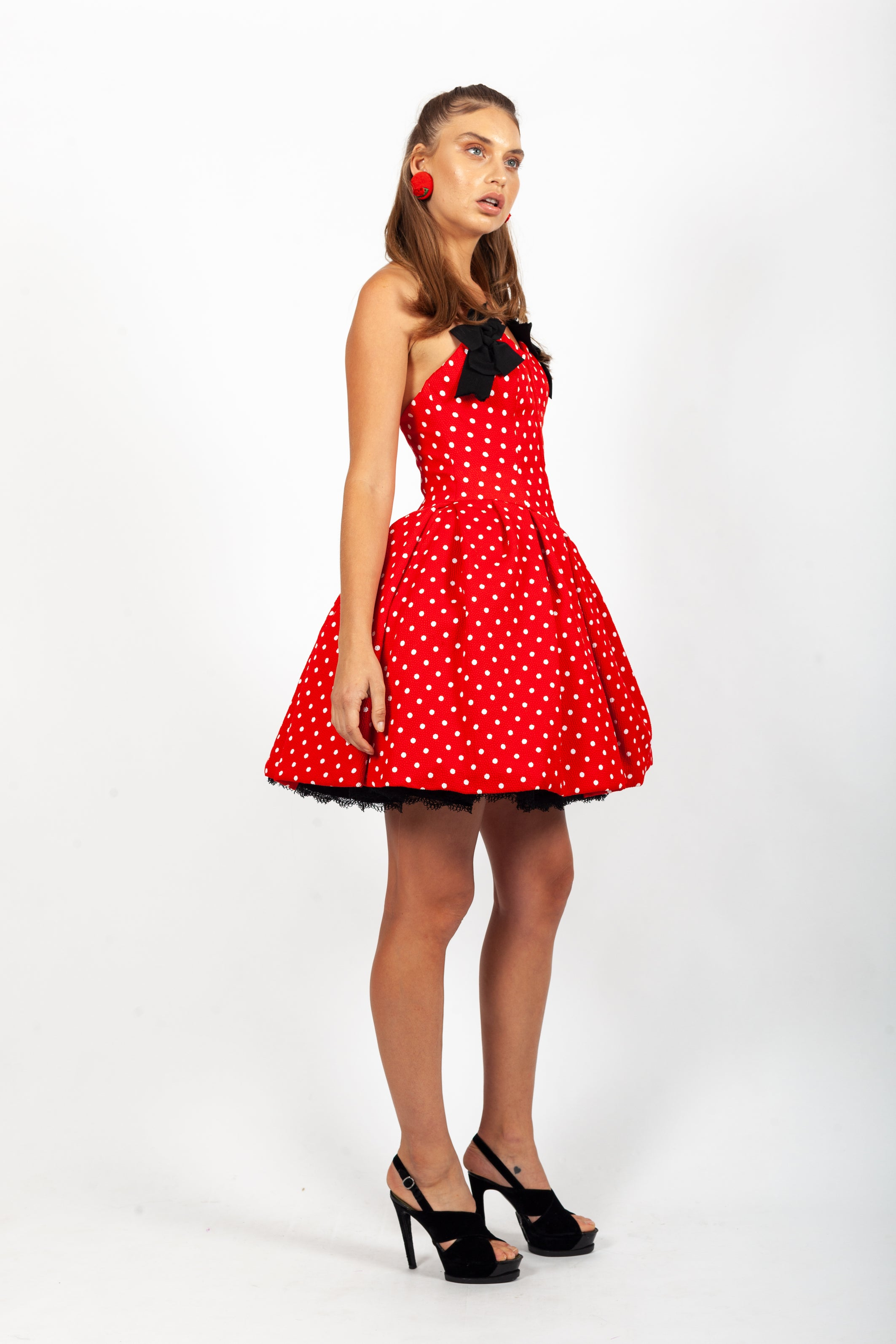 Christian Lacroix <br> S/S 1988 Luxe collection polka dot pouff dress