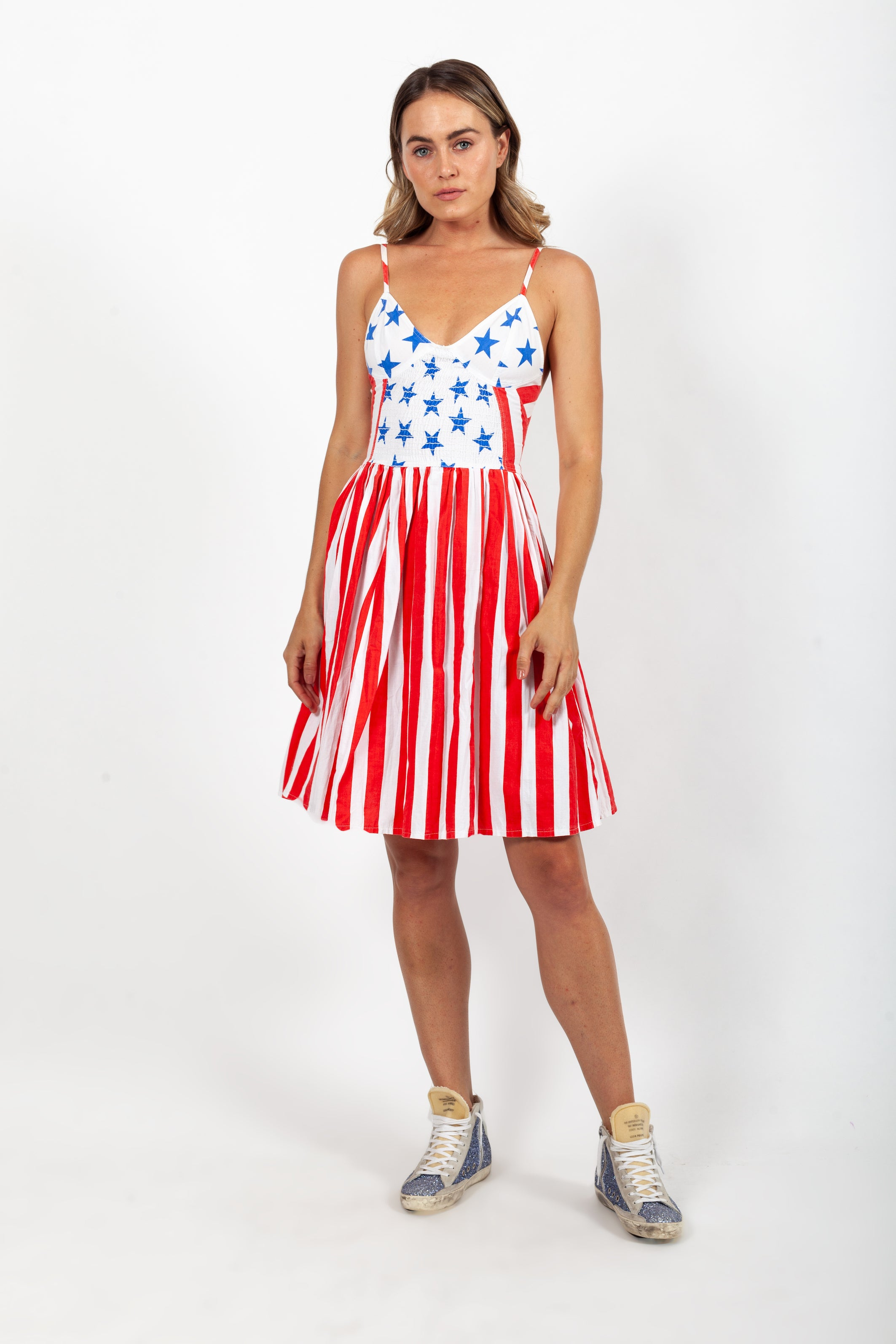 Boy London <br> 80's Americana capsule collection stars & stripes dress