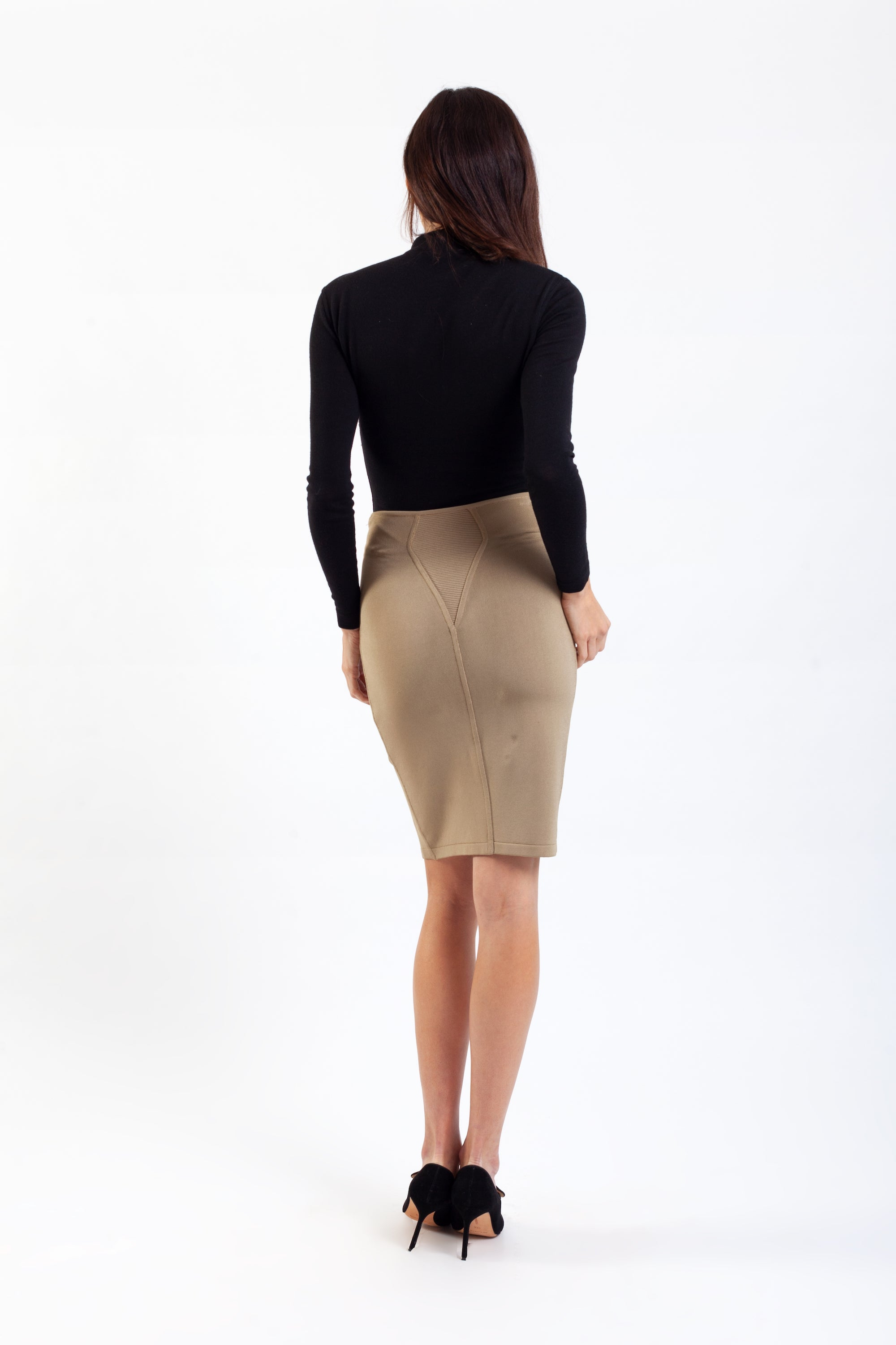 Alaïa <br> S/S 1990 high waisted knit pencil skirt