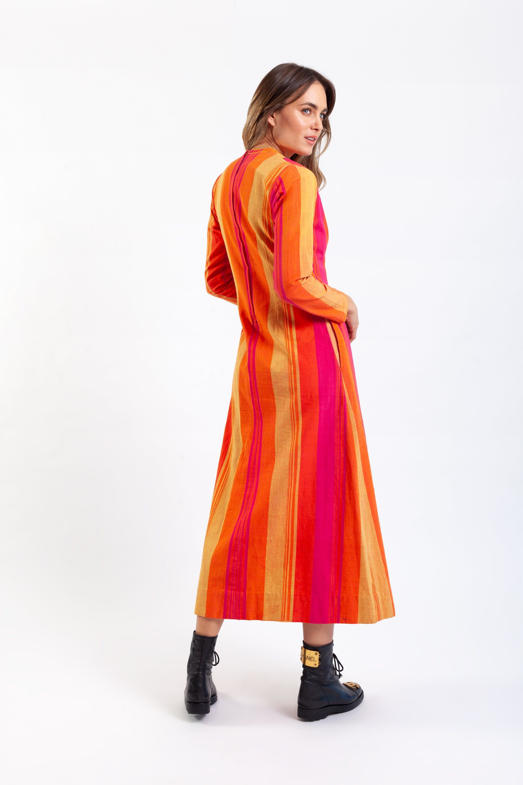 Girasol by Gonzalo Bauer <br> 60's/70's embroidered Mexican caftan