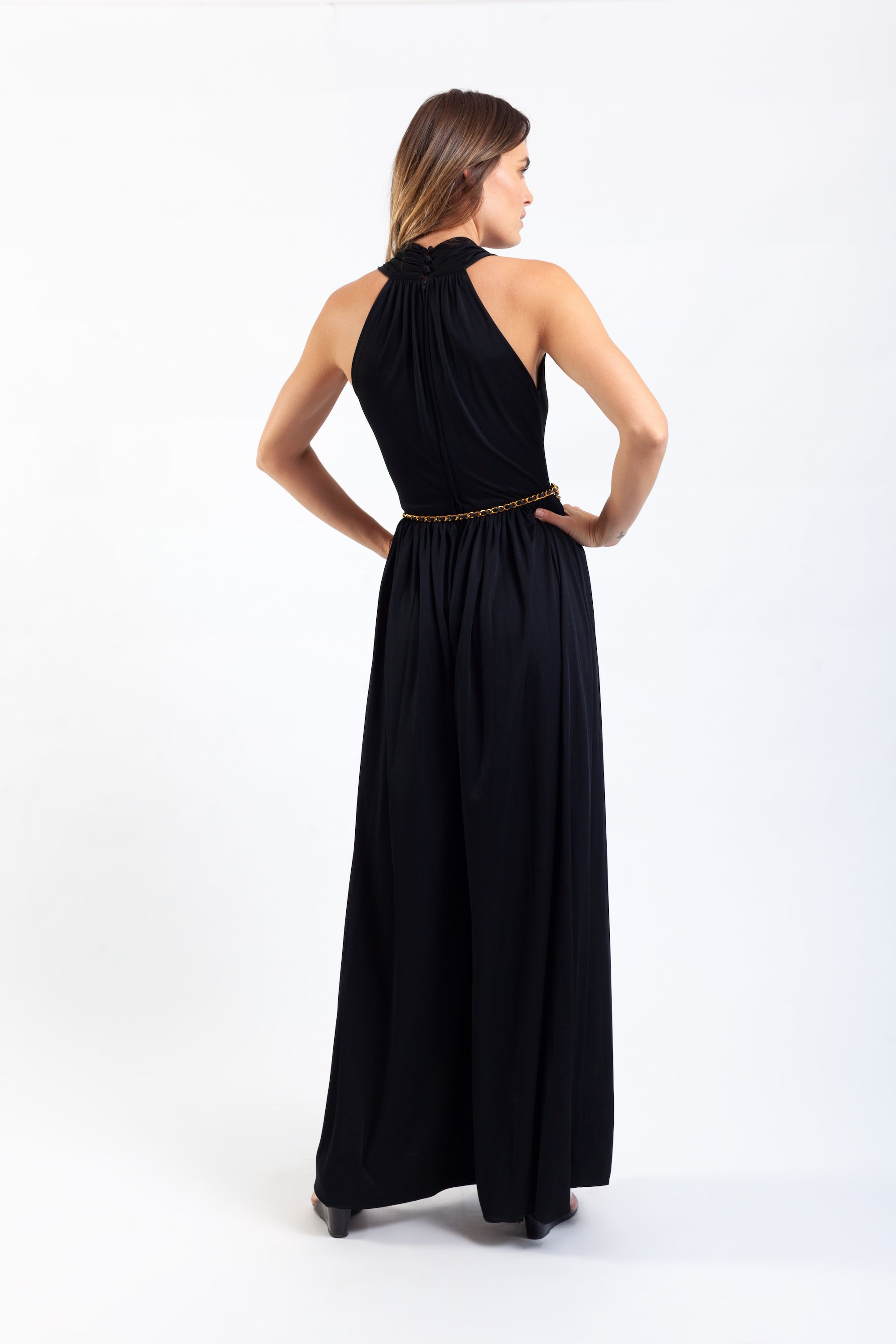 Donald Brooks <br> 60's/70's jersey wide legged jumpsuit