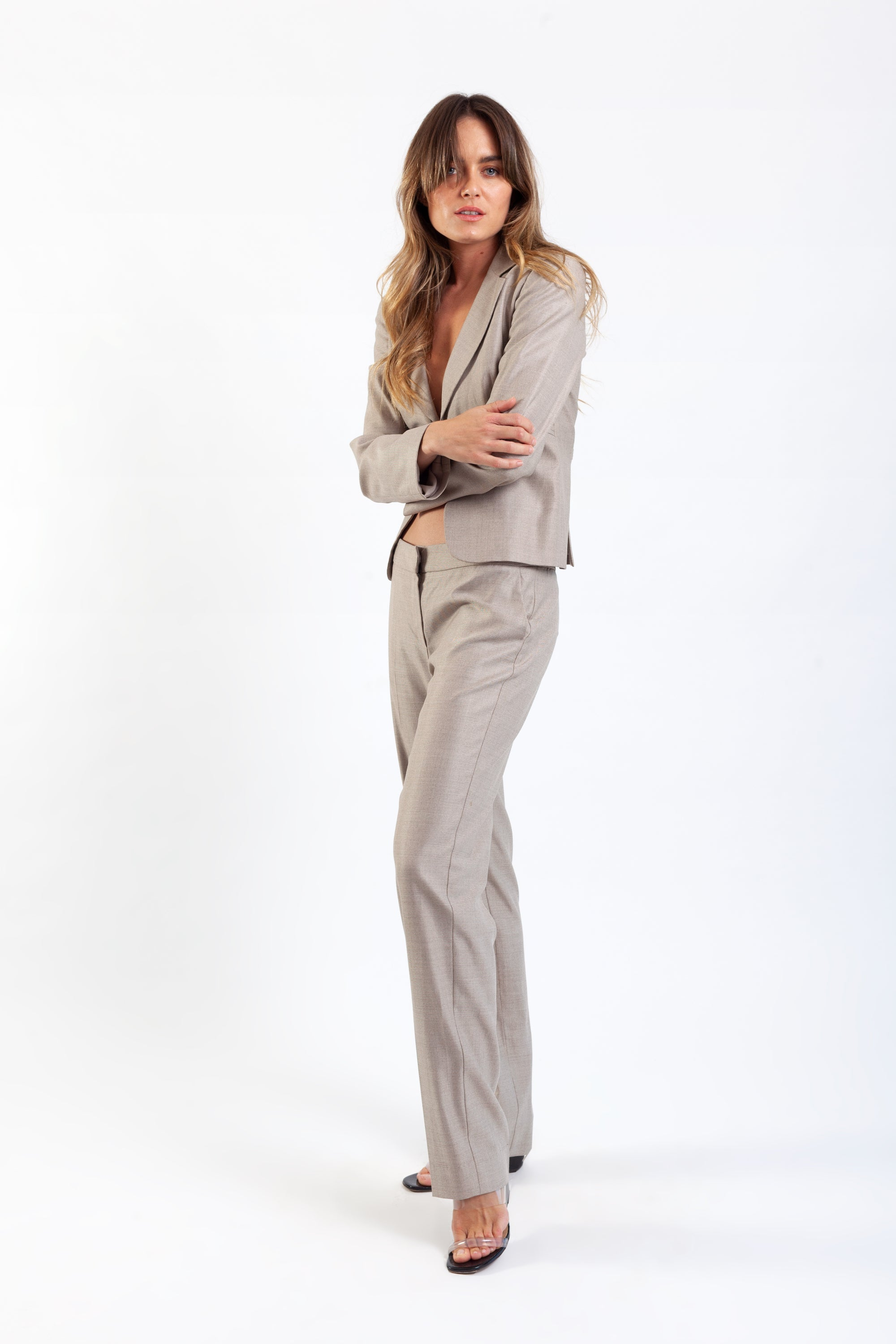 Armani <br> 80's/90's wool/silk tailored pant suit