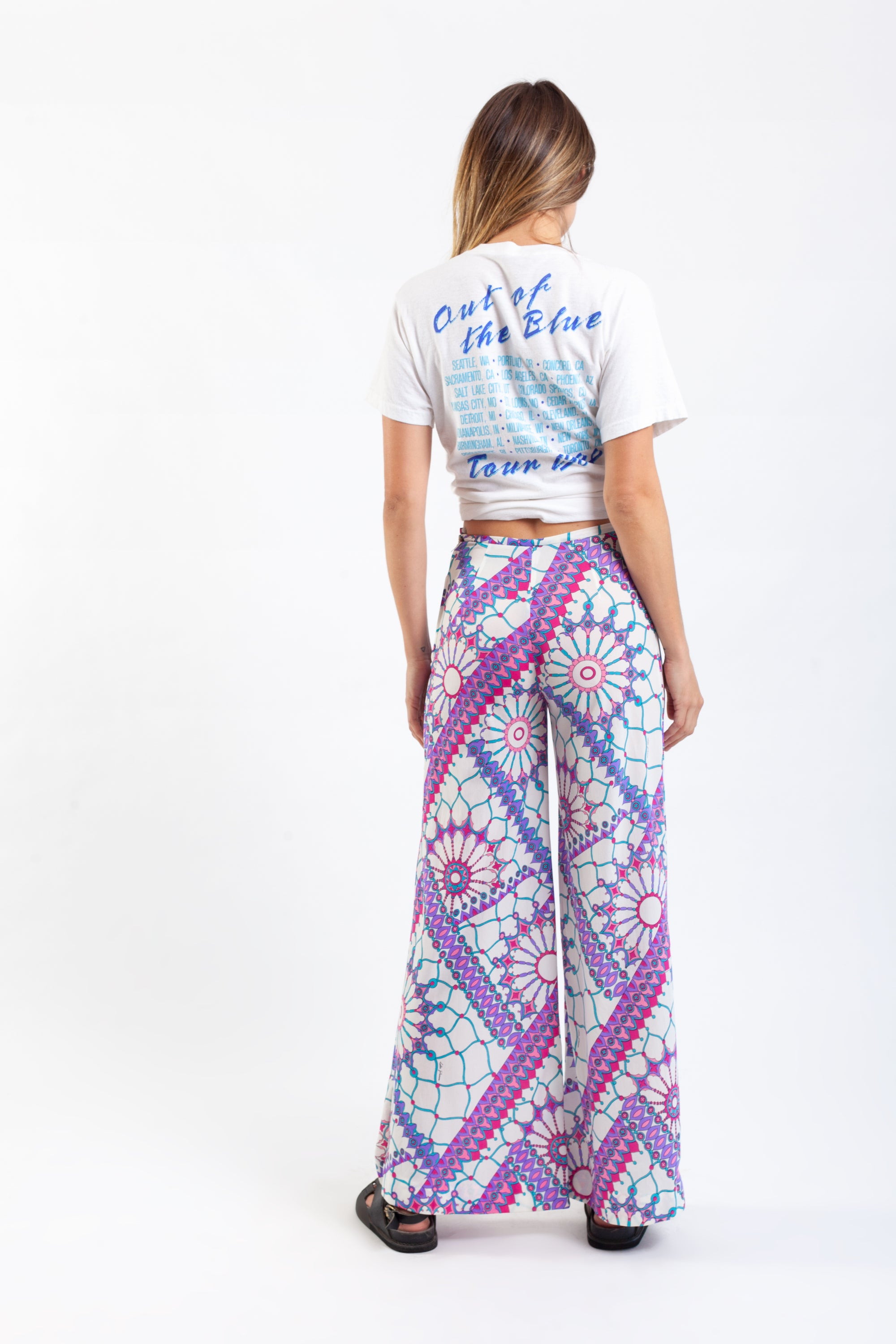 Colin Glascoe <br> 60's neon print bell bottom pants