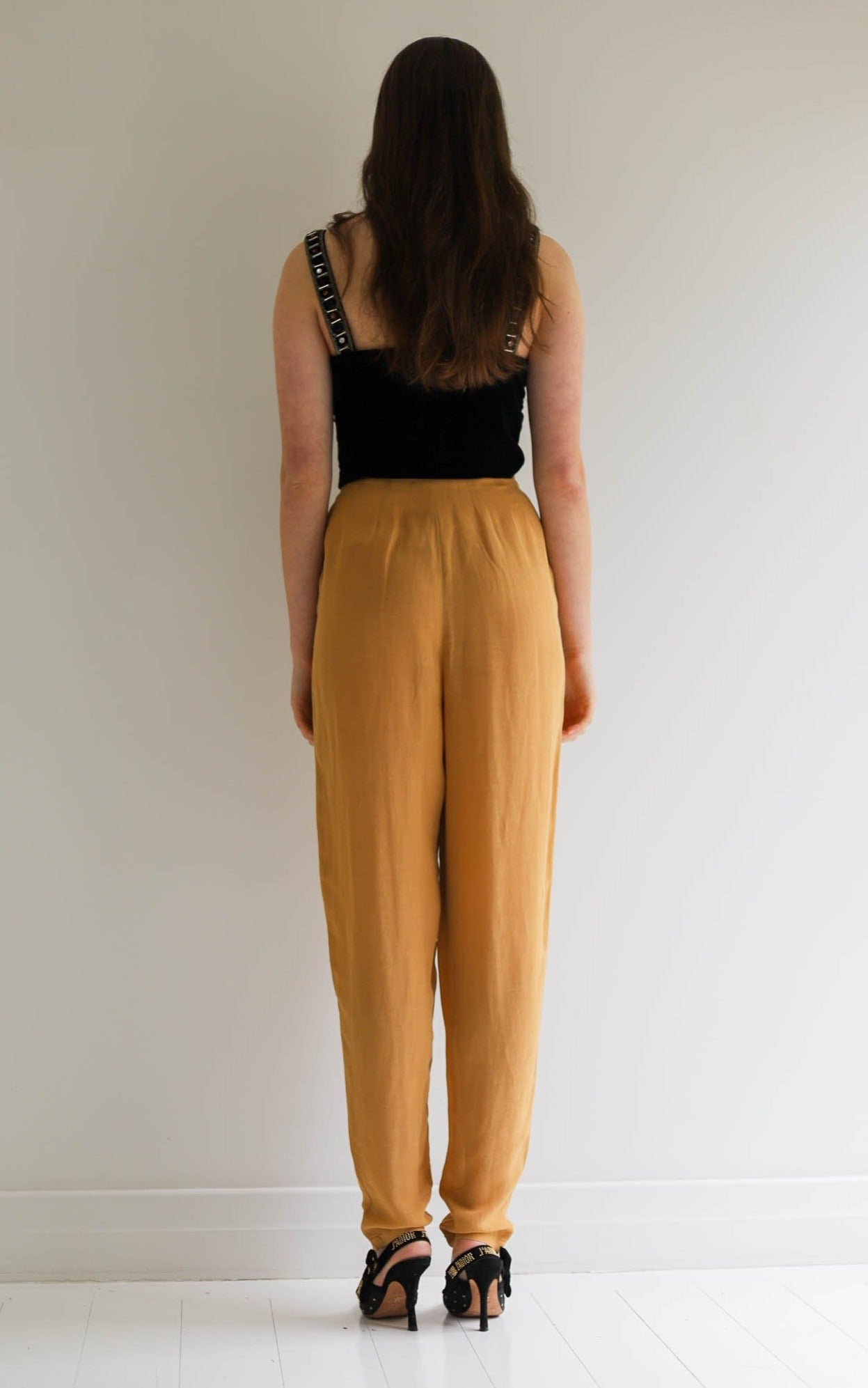 Armani <br> Emporio Armani 90's sheer linen blend high waisted tailored pants