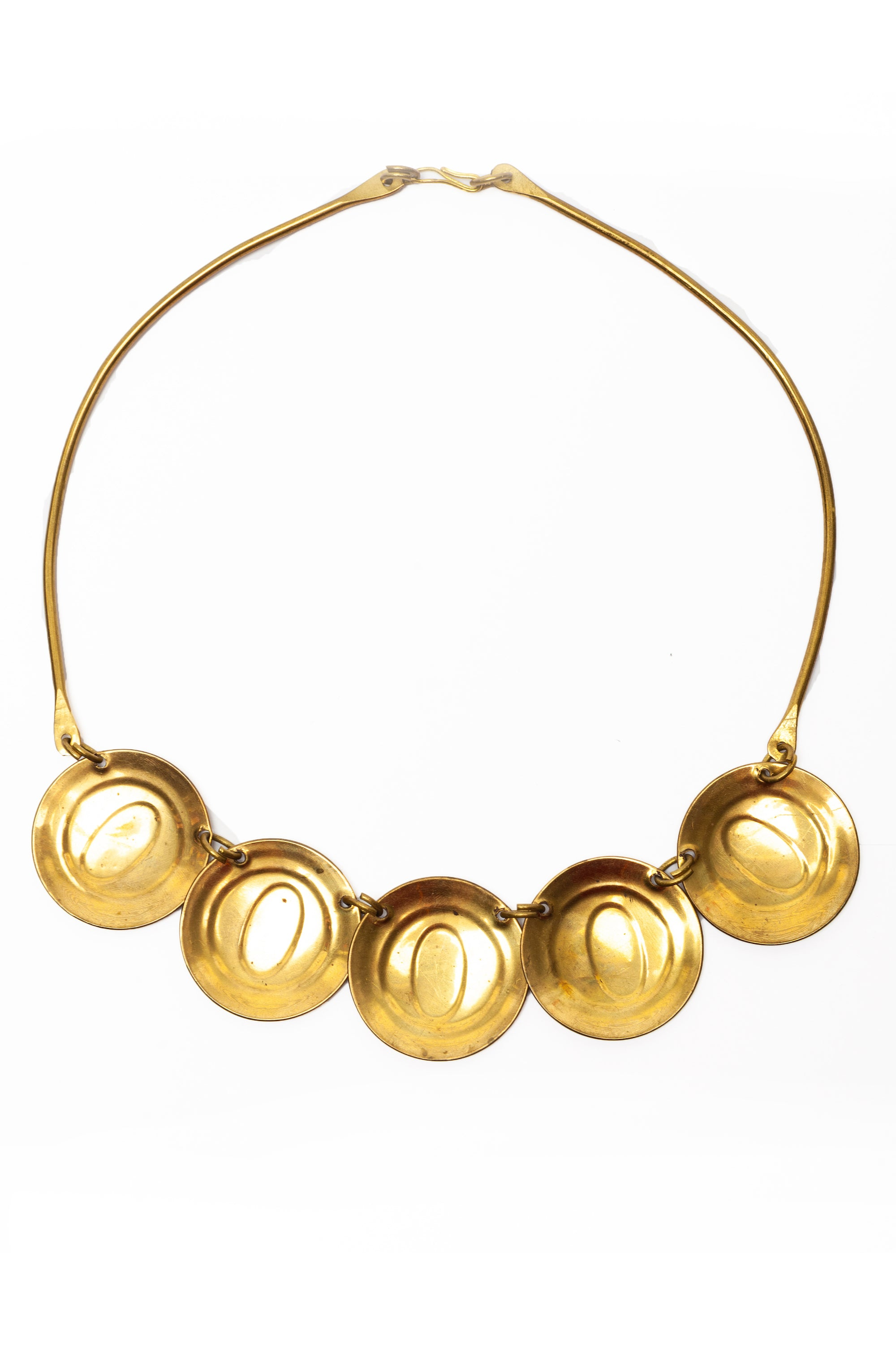 Vintage <br> 1960's/70's mexican brass metal choker necklace