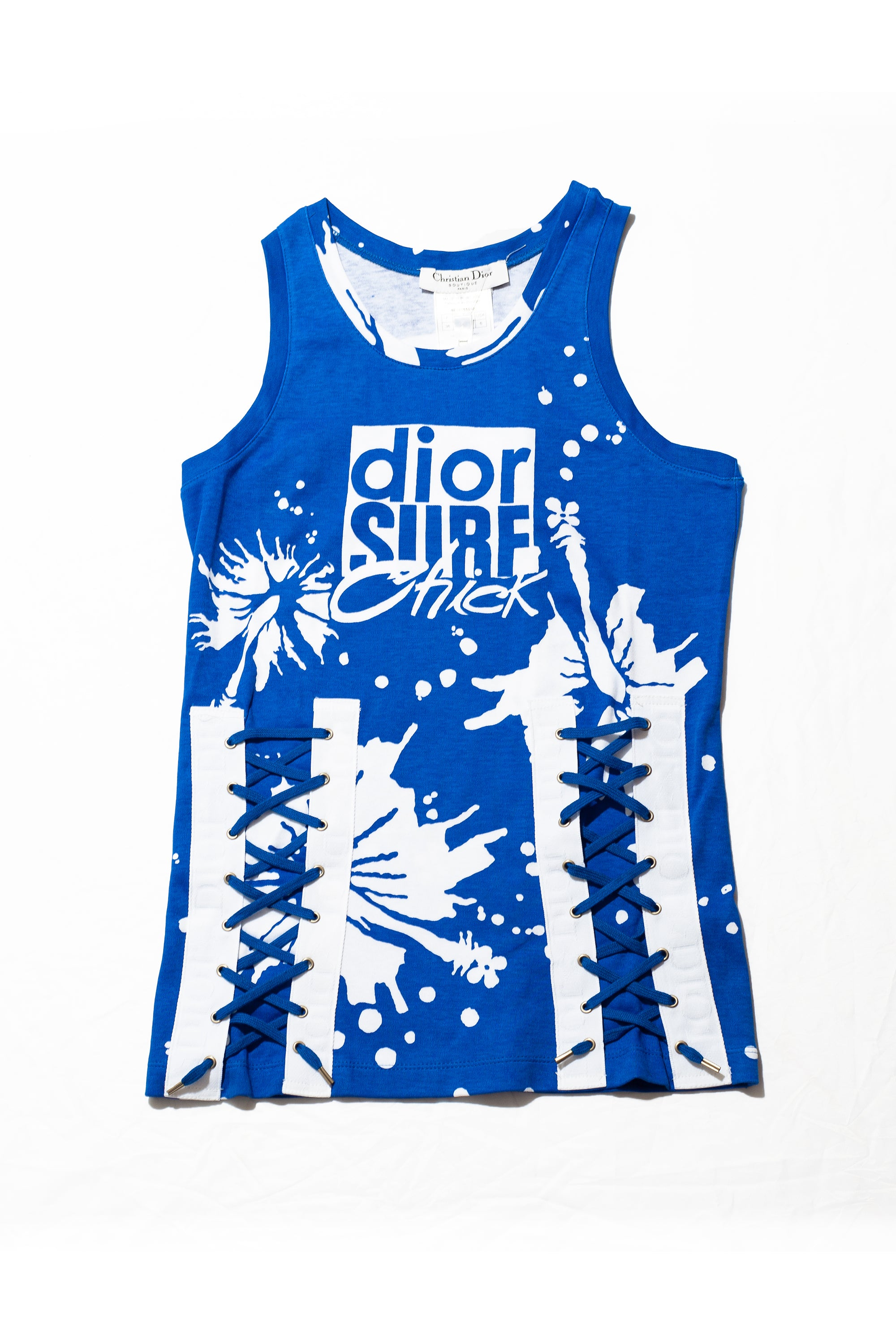 Christian Dior <br> 2004 Surf Chick collection tank top with side lacing